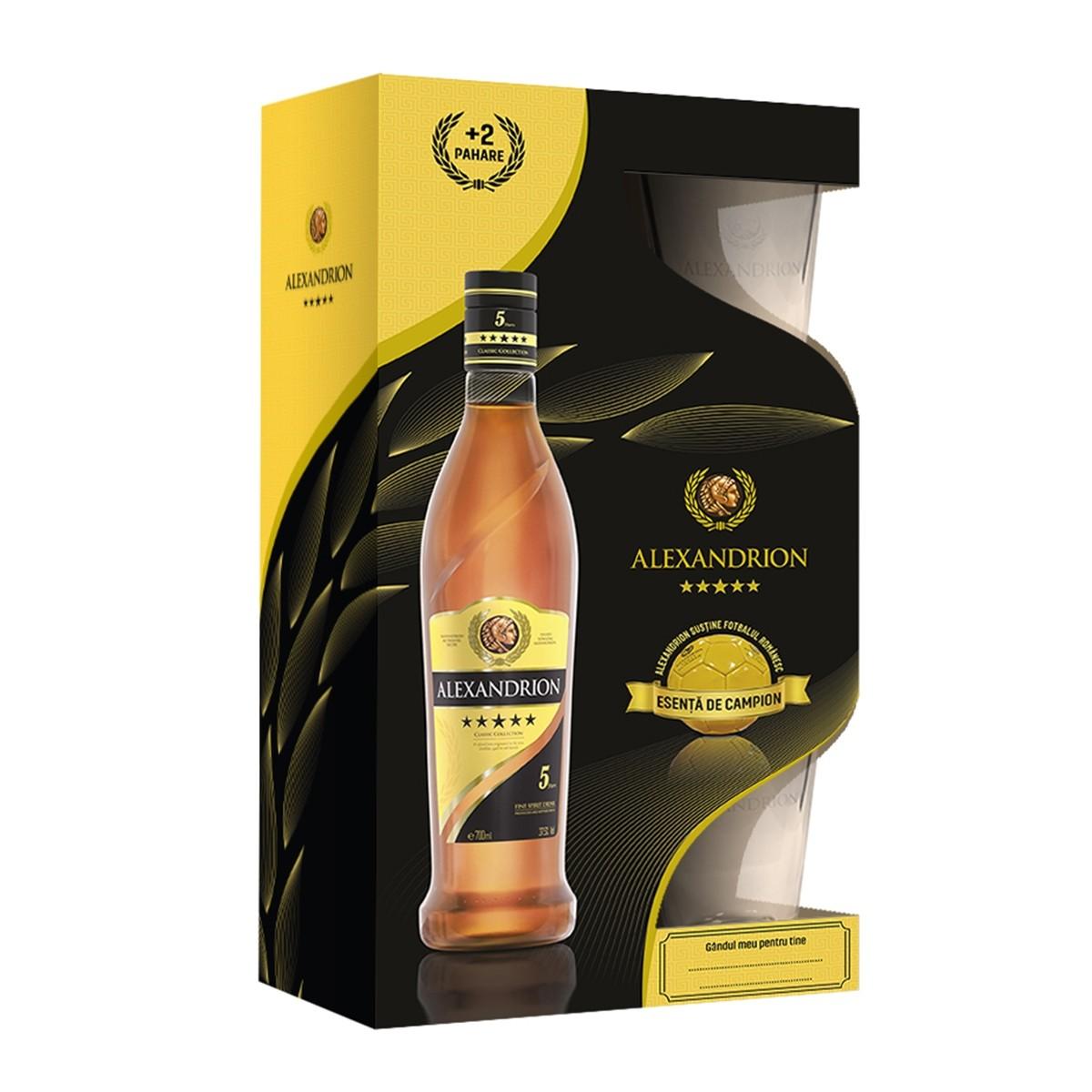 Alexandrion 5* 700 ml + 2 pahare