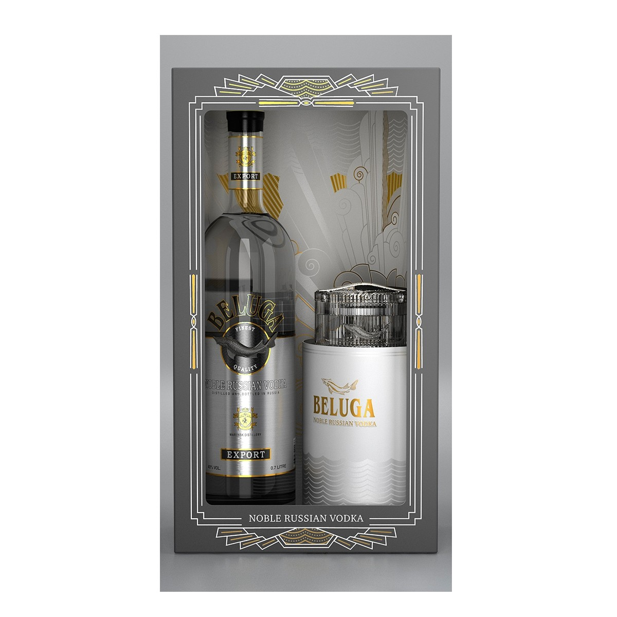 Beluga Noble 700 ml + Caviar Dish
