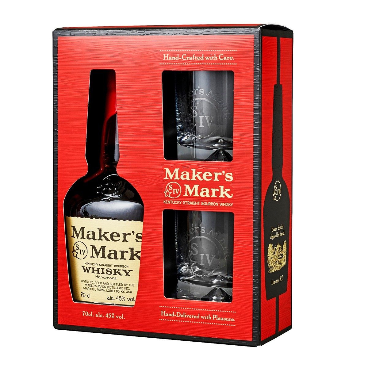 Set Cadou Makers Mark 700 ml + 2 pahare