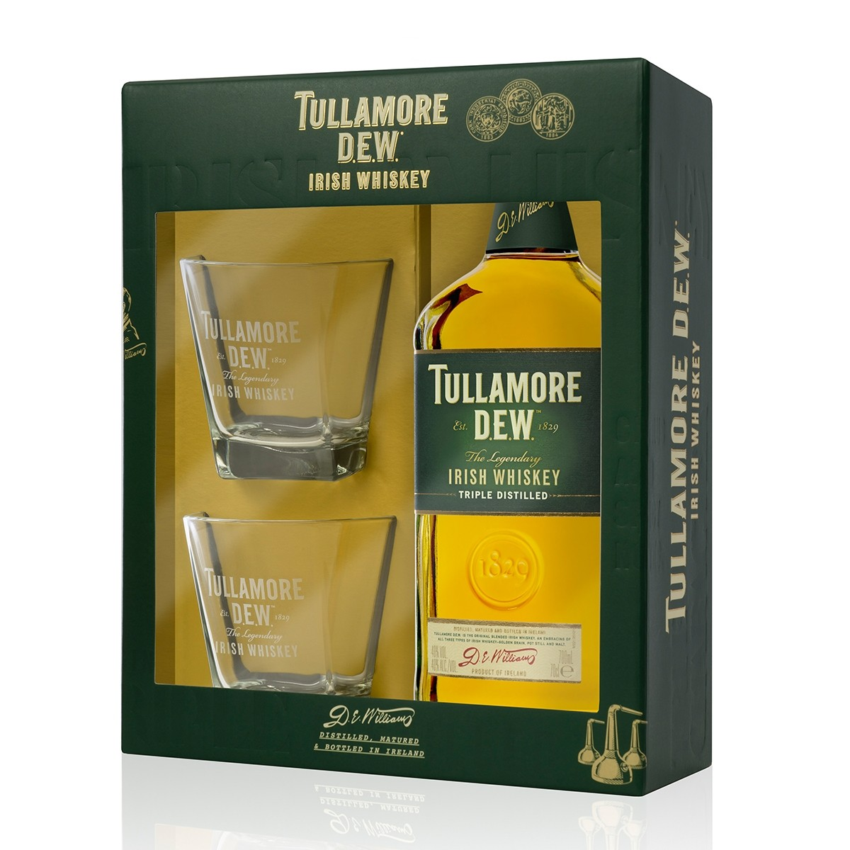 Tullamore DEW 700 ml + 2 Pahare
