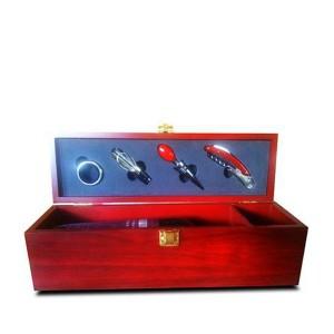 Cutie lemn accesorii pentru vin