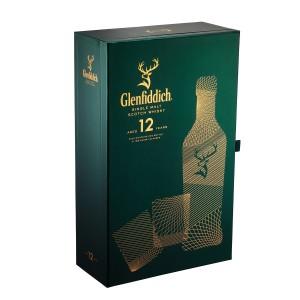 Glenfiddich 12 Ani + 2 Pahare
