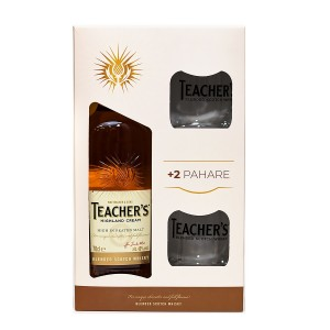 Teacher`s 700 ml + 2 pahare