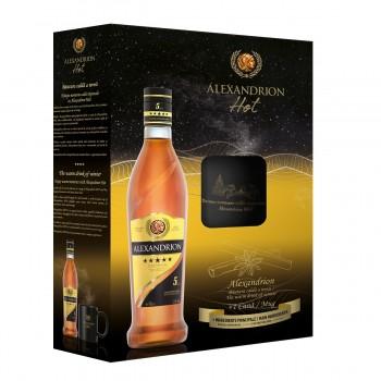 Set Cadou Alexandrion 5* 700 ml + cana Alexandrion HOT
