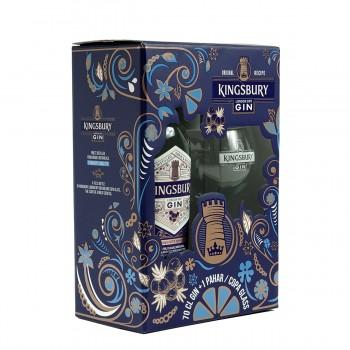 Kingsbury London Dry Gin 700 ml + pahar