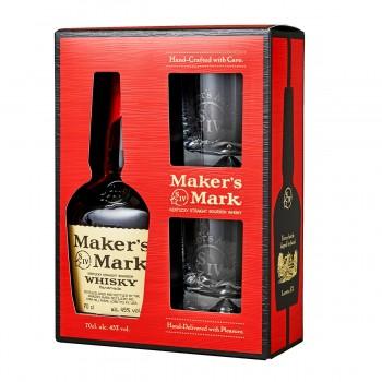 Set Cadou Makers Mark 700 ml + 2 pahare
